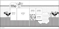 June PageMaps Sketch #5 - Scrapbook.com