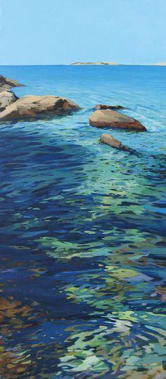 """Saatchi Online Artist: Karen Kruse; Acrylic, 2012, Painting """"La piel del agua"""""""