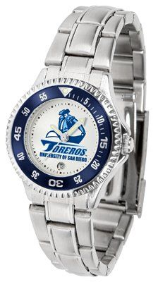 San Diego Toreros- University Of Competitor - Steel Band - Ladies - Women's College Watches by Sports Memorabilia. $78.73. Makes a Great Gift!. San Diego Toreros- University Of Competitor - Steel Band - Ladies