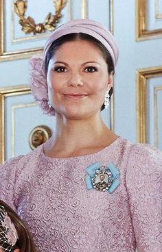 Crown Princess Victoria of Sweden, June 8, 2014 in Philip Treacy