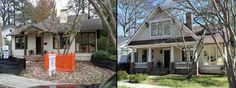 Front Extreior: Before & After - traditional - exterior - atlanta - Phoenix Renovations
