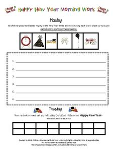 Ring in the New Year!!This is a three page packet that is intended for morning work the first week students return from Christmas break, but yo...