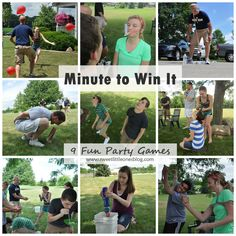 Minute to Win It Party Games - www.sweetlittleonesblog.com   Awesome party games