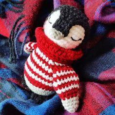 crochet penguin.