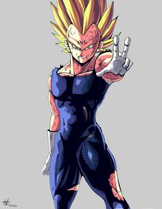 Majin Vegeta fan art by kakarotoo666