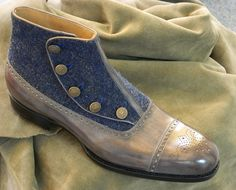 New Saint Crispin's button hole boot on classic last.
