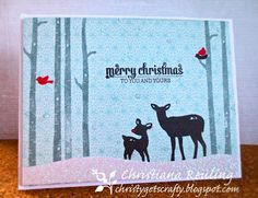 Christy Gets Crafty: Winter Wonderland by Mama Elephant (video tutorial)