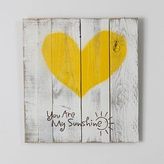 Reclaimed wood heart (you are my sunshine). This item is made 100% out of reclaimed wood. We use old fence wood to create this beautiful piece. The item is handmade in the USA.