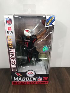 e40fcf882 You re looking at a McFarlane Ultimate team NFL Madden 2018 Series 1 Larry  Fitzgerald for the Arizona Cardinals in his black color rush uniform in NEW  LOOSE ...