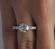 2.55 CT ROUND CUT D/SI1 DIAMOND SOLITAIRE ENGAGEMENT RING 14K WHITE GOLD