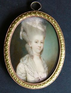 OnlineGalleries.com - A fine portrait of a Lady attributed to Jean Laurent Mosnier, circa 1789