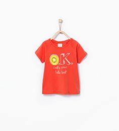 Organic cotton fruit print t - shirt - T - shirts - Baby boy (3 months - 3 years) - KIDS | ZARA United States