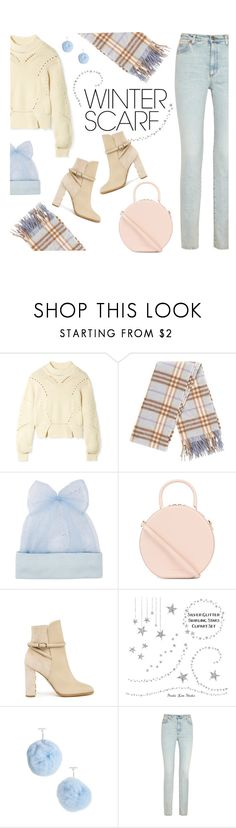 """""""winter scarf"""" by freshprincesse ❤ liked on Polyvore featuring Isabel Marant, Burberry, Federica Moretti, Mansur Gavriel, Tuleste and Gucci"""
