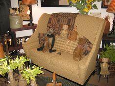 Johnston Benchworks Furniture in our shop in Radcliff, KY. www.theredbrickcottage.com
