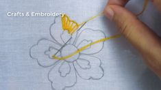 Hand Embroidery, Easy Flower Embroidery with beads, New Flower Embroidery Design Embroidery Leaf, Basic Embroidery Stitches, Hand Embroidery Videos, Hand Embroidery Flowers, Embroidery Flowers Pattern, Embroidery Patterns Free, Hand Embroidery Designs, Beads, Sewing