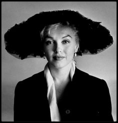 June 18 1958 / Marilyn Monroe by Carl PERUTZ. Black hat