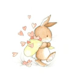 Annabel Spenceley, Representing leading artists who produce children's and decorative work to commission or license. Bunny Art, Cute Bunny, Bunny Drawing, Bunny Rabbit, Cute Drawings, Animal Drawings, Easter Drawings, Cute Images, Cute Pictures