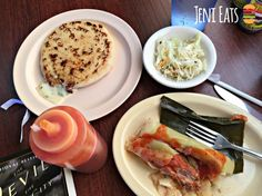The most amazing $6 feast from Pupuseria La Paz located in downtown Owatonna. Pupusas, tamales, other Salvadorian dishes and more. Plus, really good hot sauce.