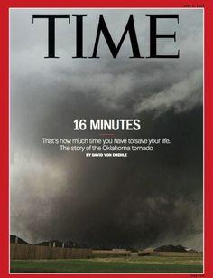 """Portada de TIME: '16 Minutos' - """"Es el tiempo que tienes para salvar tu vida. La historia del tornado de Oklahoma"""""""