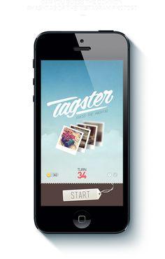 Tagster iOS App. by Ercan Akkaya, via Behance