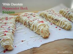 White Chocolate Peppermint Bark Scones - Dreaming All Day