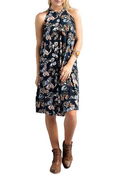Wishlist Women's Butterfly Halter Midi Dress
