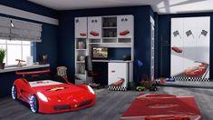 Imaginea Camera tineret Racer Bunk Beds, Furniture, Home Decor, Decoration Home, Loft Beds, Room Decor, Home Furnishings, Home Interior Design, Bunk Bed