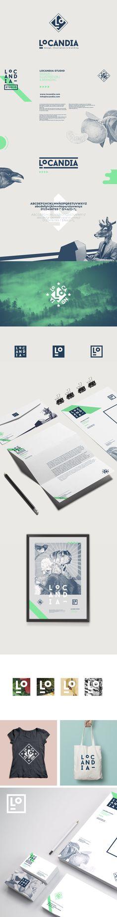 Nueva identidad corporativa de Locandia Estudio Corporate Identity #logo #stationery