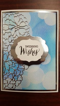 Bokeh technique using Distress Reinkers and Brilliance Ink Moonlight White, Stampin Up Sizzix So Detailed Thinlets and Rose Wonder Set. By Gina House.
