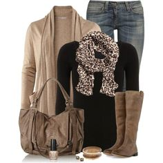 Kooba Jonnie E Shoulder Bag love every piece in this pic: scarf, jacket, purse, boots, and color combos