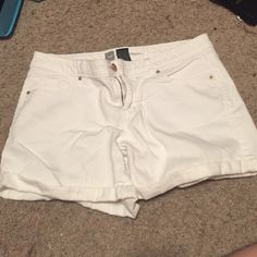 White Denim Shorts Great shorts if looking for shorts that aren't too short! *Feel free to make an offer or checkout my other listings for great bundles* Mossimo Supply Co Shorts Jean Shorts