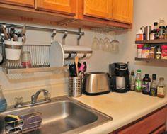 Ikea metal shelf and fold away dish dryer/storage rack | Kitchen ...