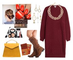 """""""Thanksgiving Outfit #1"""" by mikage44 on Polyvore featuring Kenzo, Ippolita, Kate Spade, FOSSIL, Urban Decay and Laura Geller"""