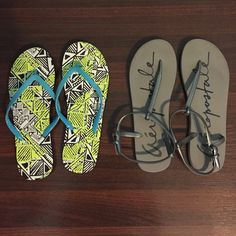 Aeropostale flip flops 2 Aeropostale flip flops. The gray ones have been worn one time, the other ones are brand new Aeropostale Shoes Sandals