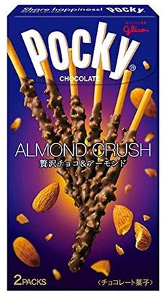 Glico Pocky Made in Japan Japanese Chocolate, Uji Matcha, Japanese Packaging, Chocolate Biscuits, Roasted Almonds, Japanese Sweets, Gourmet Recipes, Crushes, Food