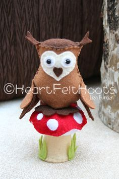 This is Brown Owl. She sits on her Toadstool in the Brownie Ring. More details on my Facebook page - HeartFelt Hoots.
