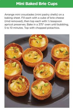 Mini Baked Brie Cups