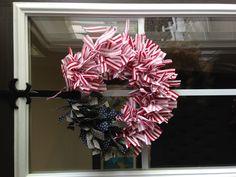 #papercraft #Patriotic wreath