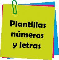 imagen menu plantillas numeros y letras