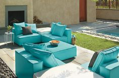 Oasis Armless Chair - Oasis Modular Seating - Outdoor - Room & Board