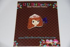 Felt Embroidered Princess Collection Hair Clip by lilibirdbowtique, $4.25