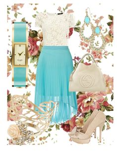"""""""HELLO"""" by ckitshoff ❤ liked on Polyvore featuring mode, Oasis, Dorothy Perkins, Karen Millen, Accessorize, Kate Spade, Kendra Scott en Gucci"""