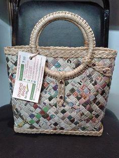 Dyaryo Bags for Life - Eco-Friendly Handbags, Totes, Purses and Shopping Bags by Luzviminda Madriñan Newspaper Bags, Shopping Bags, Eco Friendly, Totes, Handbags, Purses, Life, Dime Bags, Tote Bags