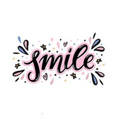 smile hand lettering word with handdrawn design Brush Lettering Quotes, Hand Lettering Quotes, Calligraphy Quotes, Typography, Words Wallpaper, Wallpaper Quotes, Doodle Quotes, Smile Word, Wordpress Website Design