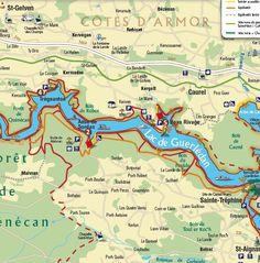 Le Lac de Guerlédan s'étend sur 12 km. Le sentier du tour de lac quant à lui, est long de 40 km. Il est idéal pour les randonneurs désirant admirer le lac sous toutes ses facettes.