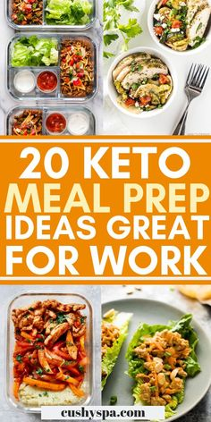 Need a few healthy meal prep ideas for your keto diet? Try these meal prep dishes and have fun meal prepping for the rest of the week. #mealprep #keto #ketodiet