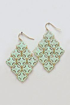 Althea Chandelier Earrings in Mint