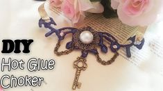 Easy Hot Glue Choker ~ Diy Victorian  Gothic Pendant