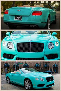 Tiffany blue 2013 Bentley Continental GTC V8 Beverly Hills Edition