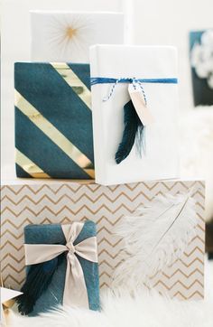 Aswe scroll our Pinterest feeds and catch up on our favorite blogs this time of year, it seems the most elaborate ideas for gift wrapping just cascade down the screen, like snowflakes falling on a winter's day. And while we appreciate a good DIY {hand-made shibori papers anyone? dip dyed…